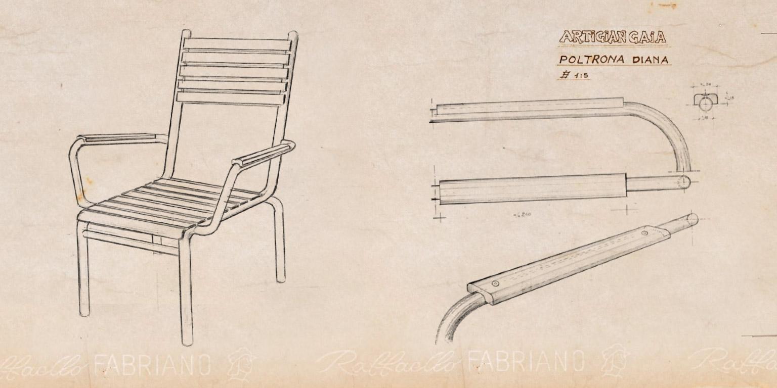 Vintage - progetto sedia Diana