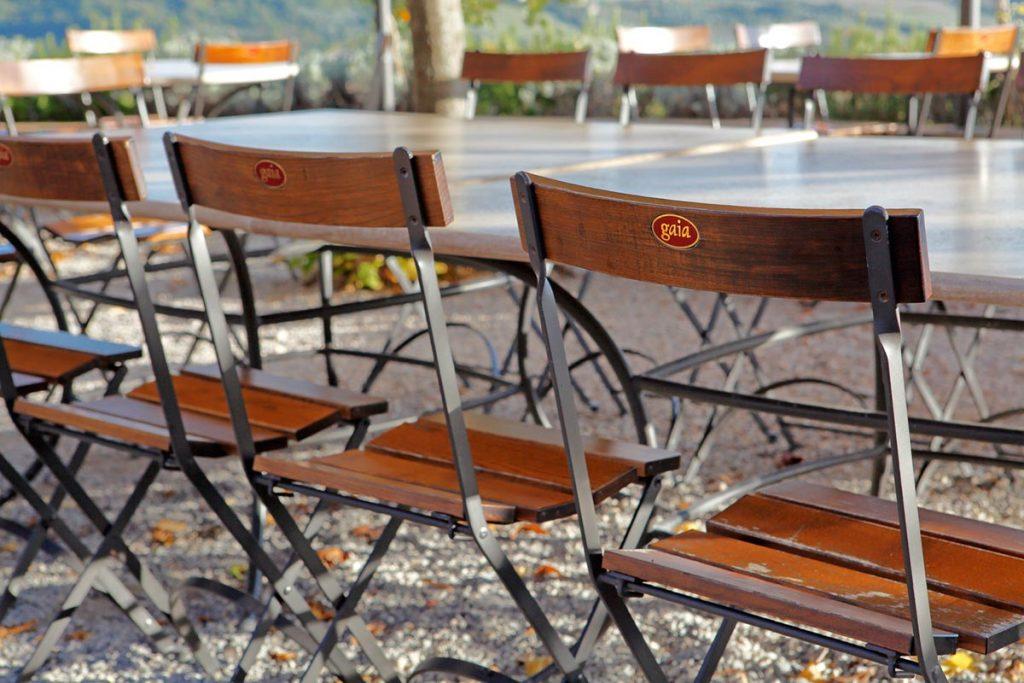 Carlotta - sedia con seduta e schienale in legno