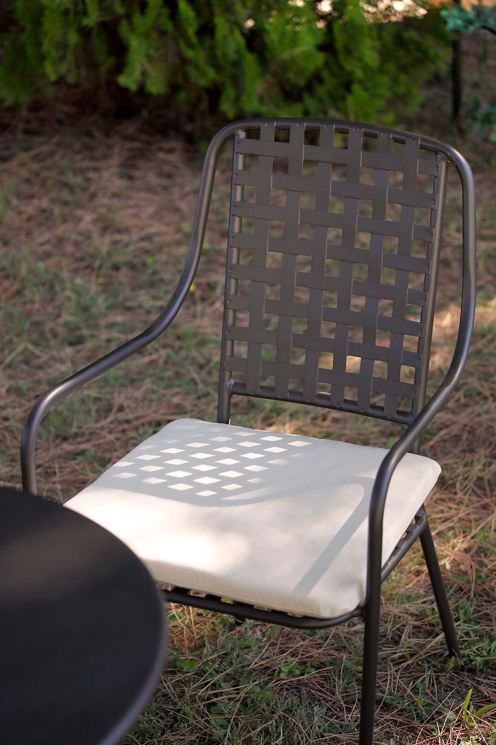 sedia Margherita, con cuscini