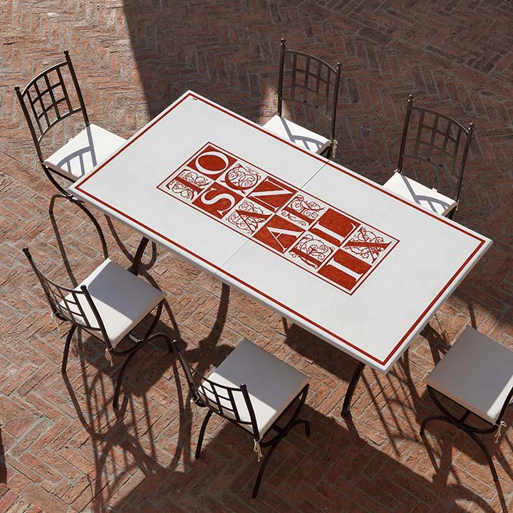 Gaia Arredo in ferro per Giardino Classico - Tavoli, Sedie, Complementi
