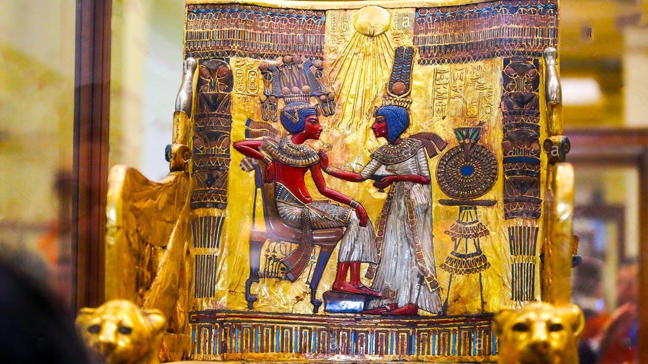 Storia della sedia - Trono di Tutankhamon