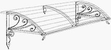 disegno pensilina in ferro - strutture gaia