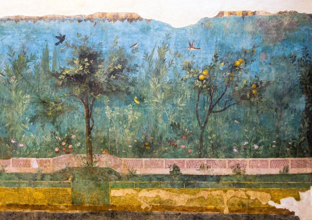 Il giardino nell'antica roma - Affresco nel ninfeo sotterraneo della villa di Livia