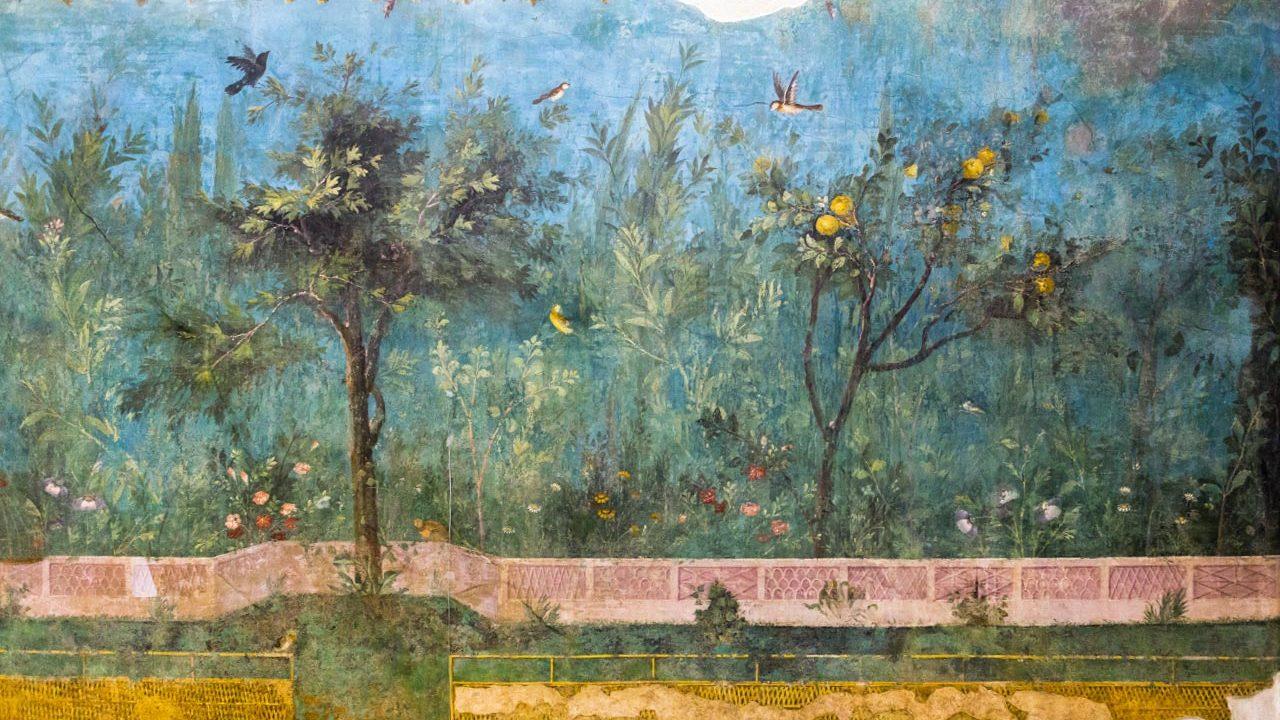 Il giardino nell'antica Roma - Ninfeo sotterraneo della villa di Livia, affresco