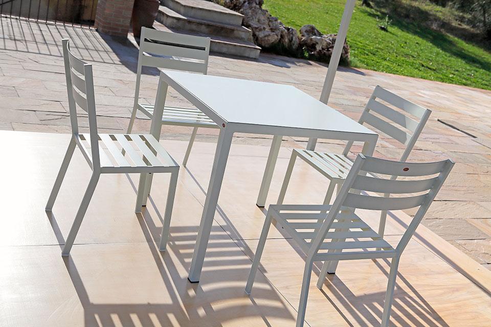 Sedia e tavolo Manuela - Collezione Eco - Gaia Ferro Forgiato