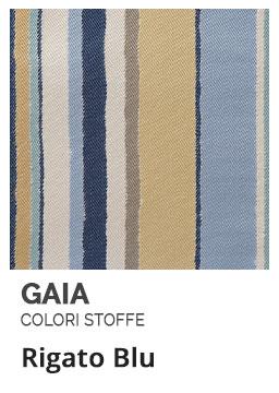 Rigato Blu - Colori Stoffe- Gaia Ferro Forgiato