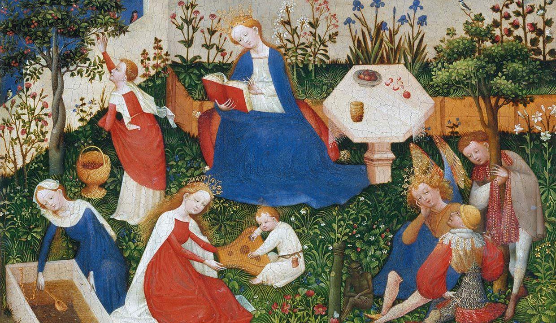 Il giardino medievale - Madonna e santi nel giardino del Paradiso, anonimo