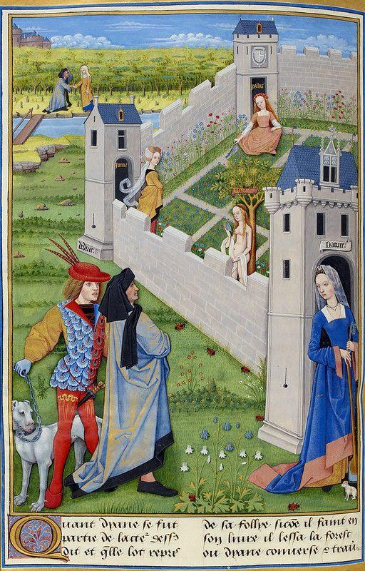 Venere, Giunone e Minerva nel giardino medievale